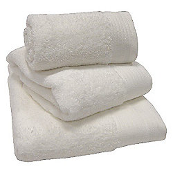 Luxury Egyptian Cotton Guest Towel, White