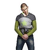 ByKay Medium Designer Baby Carrier (Grey Melee/Apple Star)