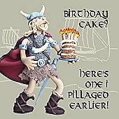 Holy Mackerel Vikings birthday cake Greetings Card