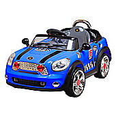 12V Twin Motor Mini Style Ride on Car Blue