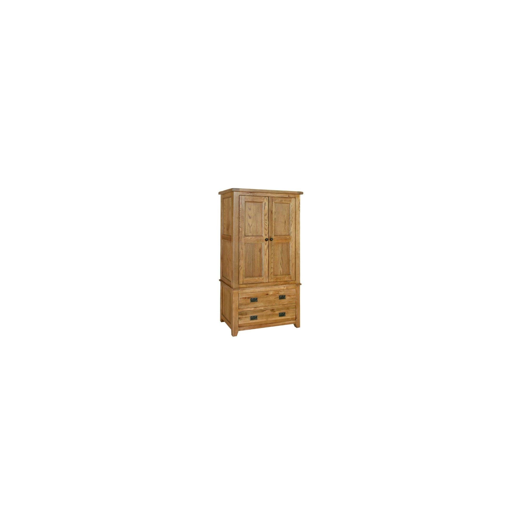 Kelburn Furniture Bordeaux Gents Wardrobe in Medium Oak Stain and Satin Lacquer at Tesco Direct