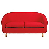 Retro Fabric Tub Sofa Red