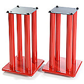 Atacama Speaker Stands in Red - Height 600mm