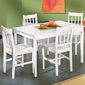 Interlink Paloma Dining Set in White