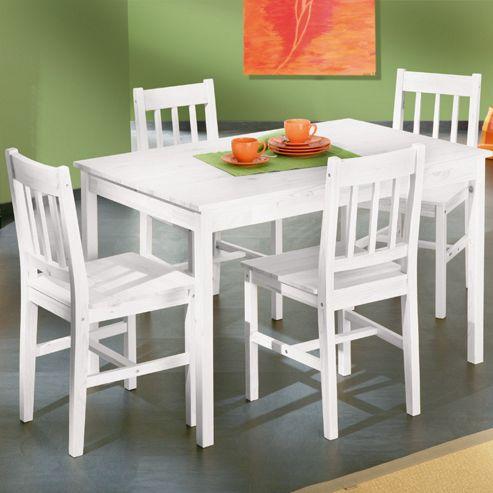Interlink Paloma Dining Set in White