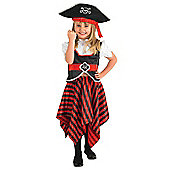 Rubies Fancy Dress - Girl Pirate - Girls Large 7-8 Years