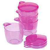 Vital Baby Food Pots - Pink - 4 pack