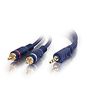 Cables to Go Velocity 3.5 mm Stereo Male to Dual RCA 10 m Male Y-Cable