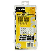 Rolson 180-Piece Nut and Bolt Set