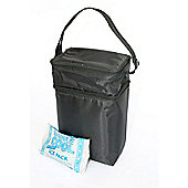JL Childress MaxiCOOL 6 Bottle Insulated Cooler Bag - Black