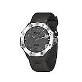Tresor Paris Watch - ISL - Stainless Steel Bezel & Crystal Dial - Grey Silicone Strap - 44mm