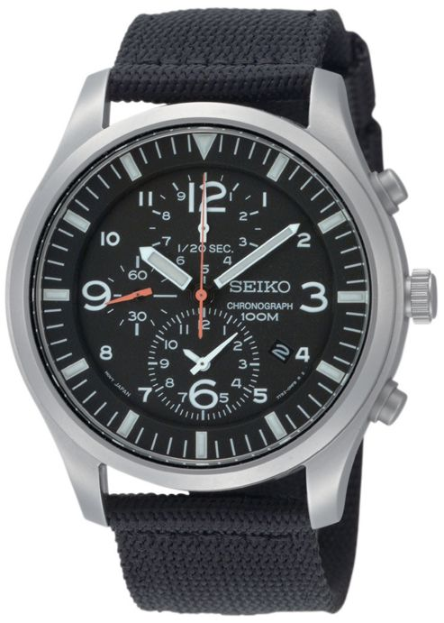Seiko Gents Chronograph Watch SNDA57P1
