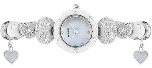 Accurist Ladies Mother of Pearl Charm Watch LB1465W
