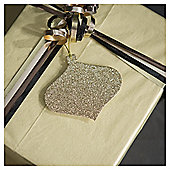 Tesco Gold Glitter Gift Tags, 6 Pack