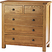 Canterbury Solid Oak and Pine 2 Over 3 Chestof Drawers