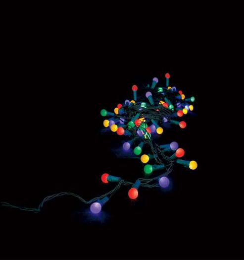 Christmas Tree With Lights Tesco: Buy 50 Battery Operated LED Faceted Globe Christmas Lights