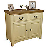 Painted Oak Small 2 Door 2 Drawer Sideboard