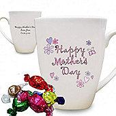Personalised Flowers & Butterflies Mother's Day Latte Mug