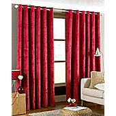Emperor Eyelet Ready Made Curtains- Fully Lined - 5 Colours - Red