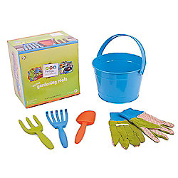 Twigz Childrens Gardening Tools 0832 My First Gardening Tools (Blue Bucket)