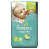 Pampers Baby Dry Size 2 Essential Pack 58 Nappies