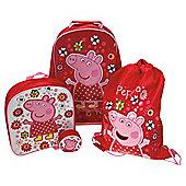 Peppa Pig 4-Piece Kids' Luggage Set