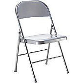 Jemini Metal Folding Chair Silver KF73589