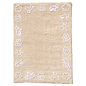 Lorena Canals Granja Beige Children's Rug - 120 cm W x 160 cm D (3 ft 11 in x 5 ft 3 in)