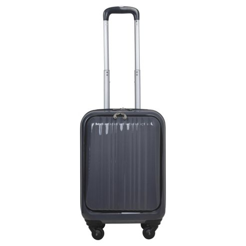 buy tesco 4 wheel hard shell charcoal cabin case from our. Black Bedroom Furniture Sets. Home Design Ideas