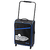 Z Frame Super-Lightweight Suitcase, Black with Blue Trim Medium