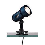 Home Essence Basic One Light 60W Clip Spotlight - Metallic Blue