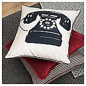 F&F Home Telephone Print Cushion