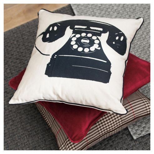 F&F Home Telephone Print Cushion