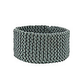 Homescapes Basket - Knitted - Grey - 37 x 21 cm