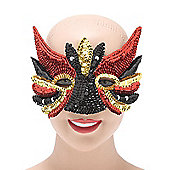 Sequin Eye Mask. Black Mix