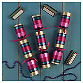 Tesco Ribbon And Stripe Dinner Party Crackers, 6 Pack