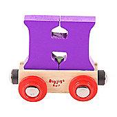 Bigjigs Rail Rail Name Letter H (Purple)