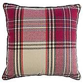 Purple Check Cushion
