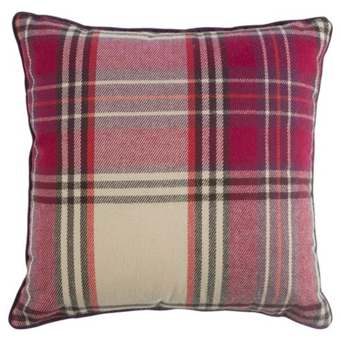 buy purple check cushion from our cushions range tesco. Black Bedroom Furniture Sets. Home Design Ideas