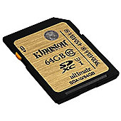 Kingston 64GB SDHC Ultimate Flash Memory Card - Class 10