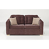 Button Back Sofabed - Chestnut