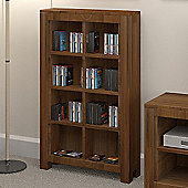 Baumhaus Mayan Walnut Open DVD/CD Storage Rack