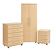 Ideal Furniture Bobby 2 Door Robe Wardrobe - Beech