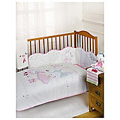 Bizzi Growin Twinkletoes Cot bed quilt and Bumper set