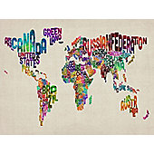 World In Words Map Canvas