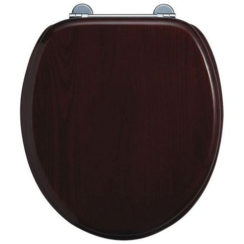 Burlington Mahogany WC Seat with Bar Hinge