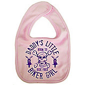 Dirty Fingers Daddy's little Biker Girl Baby Bib Pink