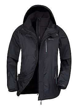 Bracken Extreme 3 in 1 Mens Waterproof Jacket - Black