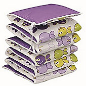 BabyDan All Round Cot Bumper 4 Sided Purple Fish