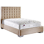 ValuFurniture Coppella Fabric Divan Bed and Mattress Set - Mink - Small Double - 4ft